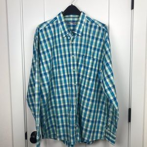 Alan Flusser XXL plaid long sleeve button down